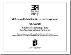 Diseño placa ganador_REhabilita 2019